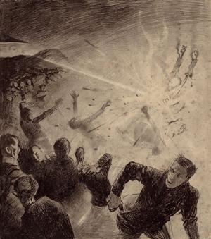 Иллюстрация из книги Герберта Уэллса Освобожденный мир