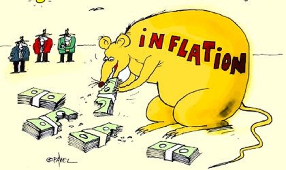 Инфляция: падение рубля