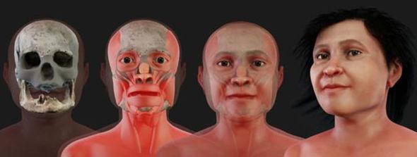 3d модель лица Евы