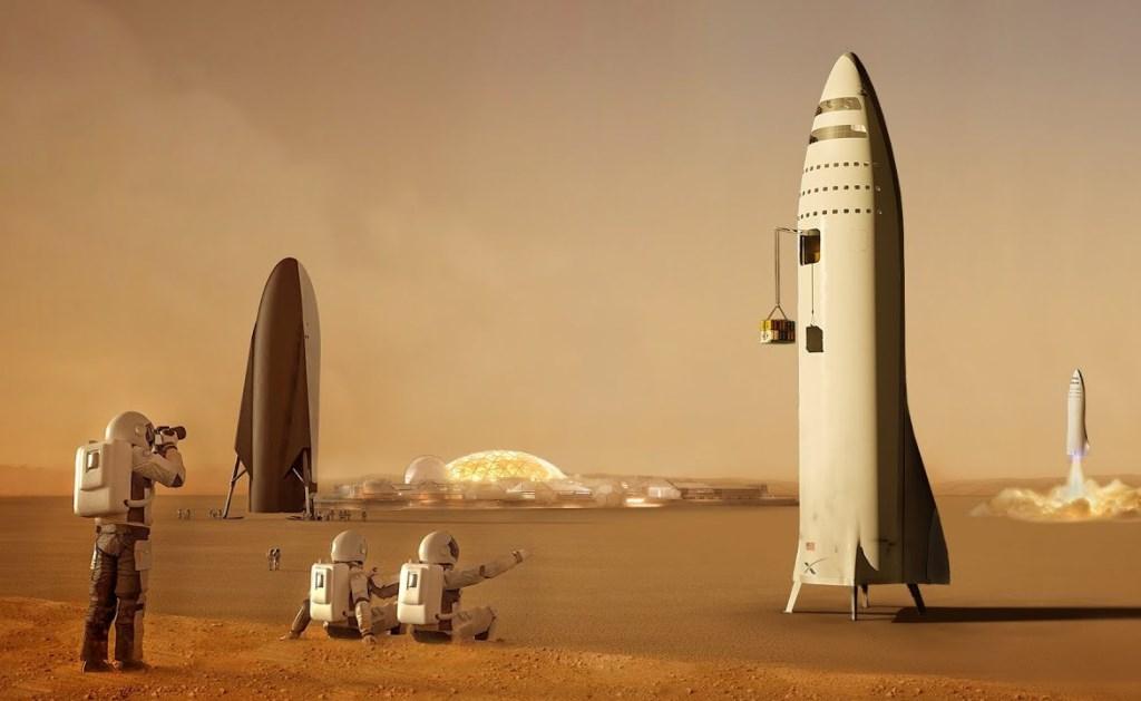 SpaceX планирует построить несколько городов на Марсе