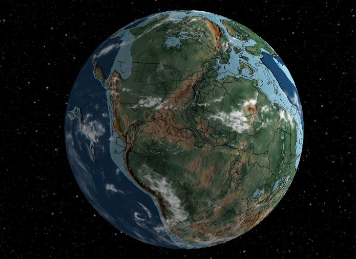 3-д модель истории изменений Земли: новая разработка ученых