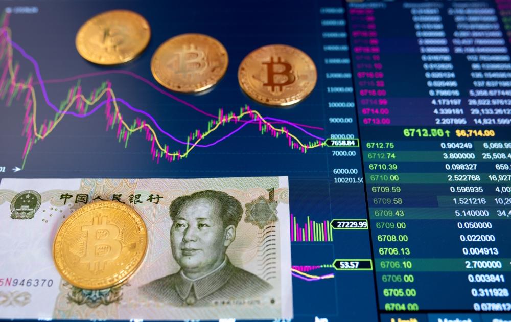 Доля трейдинга пары BTC/RMB опустилась ниже 1%