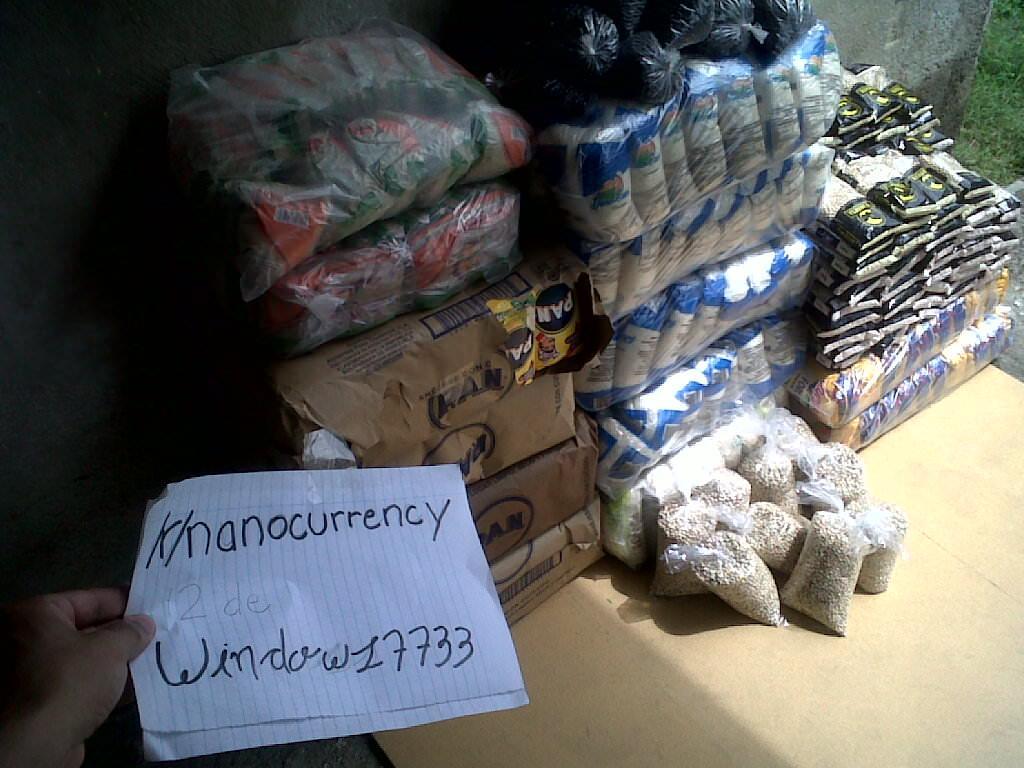 Продукты питания, которые поставляет сообщество Nano для жителей Венесуэлы