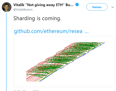 Форк Ethereum - Sharding