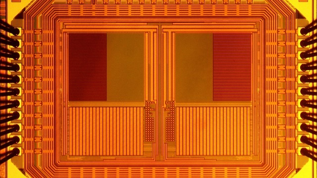 Изобретена микрокамера размером 1 мм. На фото ее сенсор.