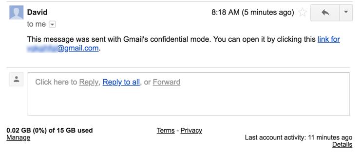 В Gmail можно будет отправлять самоуничтожающиеся письма
